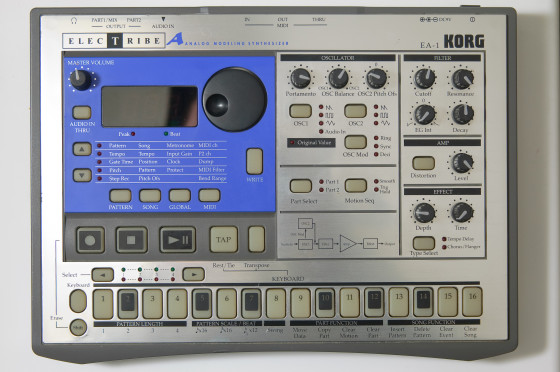 Korg Before: The original hardware Elektribe