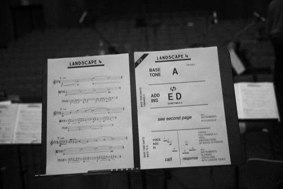 """First draft of the score for """"Engtanglement"""" from the album Nº3"""
