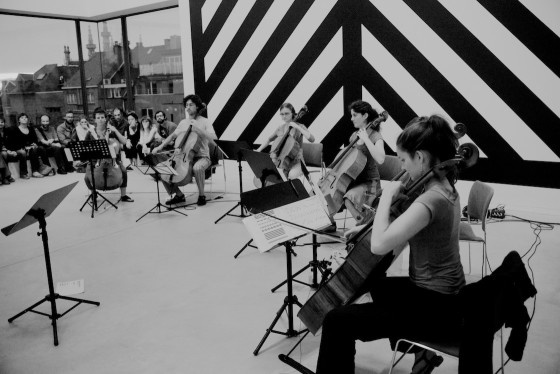 Six-pice cello ensemble at M-Museum, Belgium